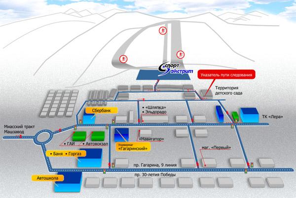 Карта Златоуста: