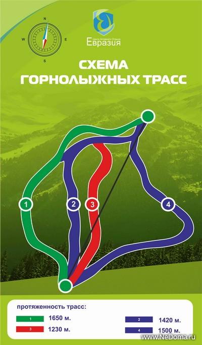 2 трассы: зеленая трасса